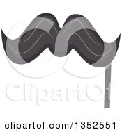 Clipart Of A Photo Booth Mustache Prop Royalty Free Vector Illustration