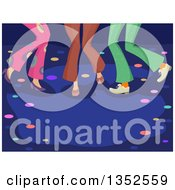 Clipart Of Legs Of People Dancing At A Disco Club Royalty Free Vector Illustration by BNP Design Studio