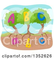 Clipart Of Alphabet Abc Trees Royalty Free Vector Illustration