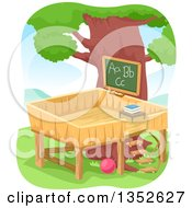 Clipart Of A Tree House Class Room Royalty Free Vector Illustration by BNP Design Studio