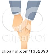 Clipart Of A Caucasian Gay Man Putting An Engagement Ring On His Partners Finger Royalty Free Vector Illustration