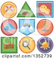 Clipart Of Recreation Icon Buttons Royalty Free Vector Illustration
