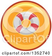 Clipart Of A Life Buoy Icon Button Royalty Free Vector Illustration