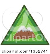 Clipart Of A Green Triangle Mountains Icon Royalty Free Vector Illustration