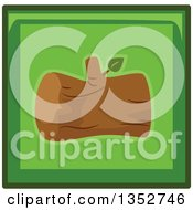 Clipart Of A Green Square Log Icon Royalty Free Vector Illustration
