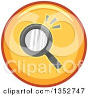 Clipart Of A Round Yellow Seach Magnifying Glass Icon Royalty Free Vector Illustration by BNP Design Studio
