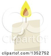 Clipart Of A Candle Royalty Free Vector Illustration