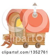 Clipart Of A Gypsy Romani Wagon Royalty Free Vector Illustration