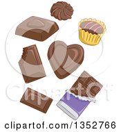 Clipart Of Chocolate Candies Royalty Free Vector Illustration by BNP Design Studio