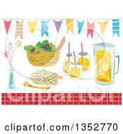 Clipart Of Party Foods And Design Elements Royalty Free Vector Illustration by BNP Design Studio