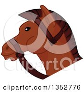 Clipart Of A Brown Horse Head Royalty Free Vector Illustration by BNP Design Studio