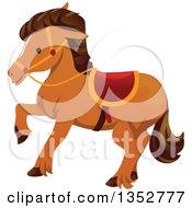 Walking Brown Horse