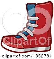 Clipart Of A Wrestling Boot Royalty Free Vector Illustration