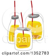 Clipart Of Drinks In Jars Royalty Free Vector Illustration by BNP Design Studio