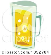 Clipart Of A Pitcher Of Lemonade Or Tea Royalty Free Vector Illustration by BNP Design Studio