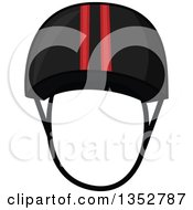 Clipart Of An Equestrian Helmet Royalty Free Vector Illustration by BNP Design Studio