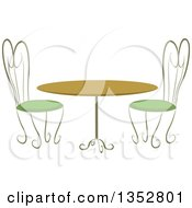 Clipart Of A Cafe Table And Chairs Royalty Free Vector Illustration by BNP Design Studio