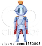 Clipart Of A Knight In A Red Cape Royalty Free Vector Illustration