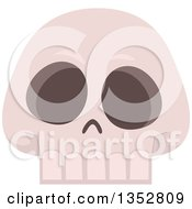 Clipart Of A Skull Royalty Free Vector Illustration