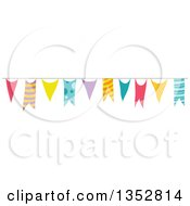 Clipart Of Colorful Party Banner Royalty Free Vector Illustration
