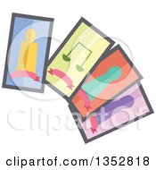 Clipart Of A Gypsy Tarot Cards Royalty Free Vector Illustration by BNP Design Studio