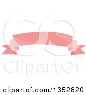 Clipart Of A Shiny Pink Ribbon Banner Royalty Free Vector Illustration