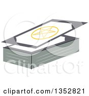 Clipart Of Gypsy Cards Royalty Free Vector Illustration
