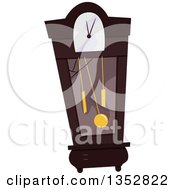 Clipart Of A Broken Grandfather Clock Royalty Free Vector Illustration by BNP Design Studio