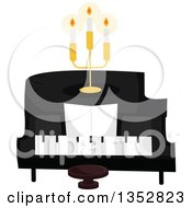 Clipart Of A Piano With A Candelabra Royalty Free Vector Illustration by BNP Design Studio
