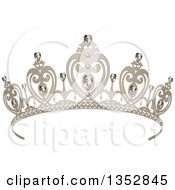 Clipart Of A Princess Tiara With Diamonds Royalty Free Vector Illustration by Pushkin