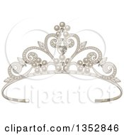 Princess Tiara With Hearts And Diamonds