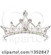 Princess Tiara With Pearls Hearts And Diamonds