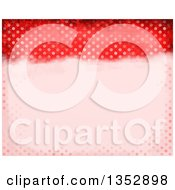 Clipart Of A Background Of Red Distressed Polka Dots Royalty Free Illustration