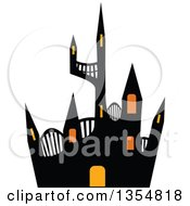 Clipart Of A Haunted Halloween Castle Royalty Free Vector Illustration by Melisende Vector
