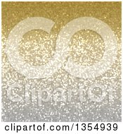 Clipart Of A Christmas Background Of Golden Sparkly Glitter Royalty Free Illustration