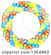 Clipart Of A Colorful Party Balloon Wreath Royalty Free Vector Illustration