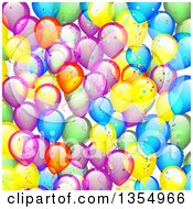 Clipart Of A Colorful Party Balloon Background Royalty Free Vector Illustration