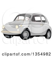 Retro Compact Gray Car