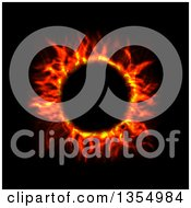Clipart Of A Red Hot Fire Circle On Black Royalty Free Vector Illustration by vectorace