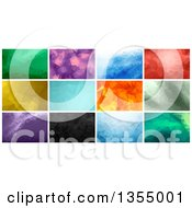 Clipart Of Geometric Polygonal Backgrounds Royalty Free Vector Illustration