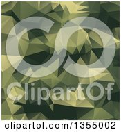 Clipart Of A Green Low Poly Geometric Background Royalty Free Vector Illustration