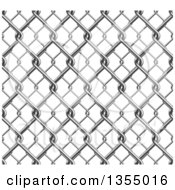 Clipart Of A 3d Seamless Chainlink Fence Background Royalty Free Vector Illustration