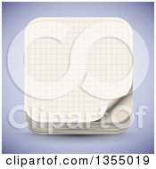 Clipart Of A 3d Graph Paper Icon Over Shading Royalty Free Vector Illustration by vectorace