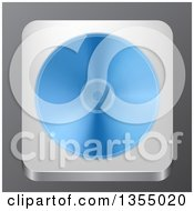 Clipart Of A 3d Optical Disk App Icon Over Gray Royalty Free Vector Illustration