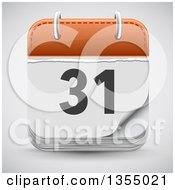 Clipart Of A Date Calendar App Icon Over Shading Royalty Free Vector Illustration by vectorace