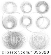 Random Scribble Circle Design Elements