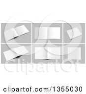 Clipart of 3d Books, Catalogs and Magazines on Gray - Royalty Free Vector Illustration by vectorace