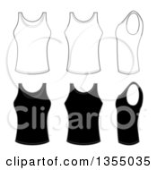 Outline And Black Tank Tops