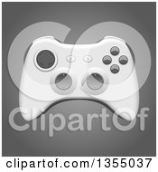 Clipart Of A 3d Video Game Controller On Gray Royalty Free Vector Illustration