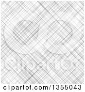 Clipart Of A Background Of Gray Linen Texture Royalty Free Vector Illustration